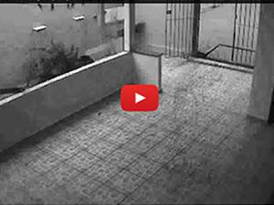 Camera de segurança flagra fantasma em sistema de monitoramento